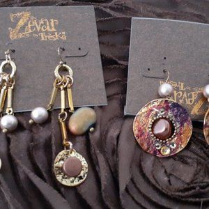 BUNDLE🌟2 NEW PAIRS🌟ZAVAR🌟 Earrings Dangle Bead